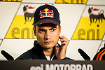 Press conference on the Sachenring circuit of the rider Dani Pedrosa prior to grand prize. Germany. 10/07/2014. Samuel de Roman / Photocall3000.