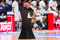 The official game ball of Liga Endesa during match of Liga Endesa at Barclaycard Center in Madrid. September 30, Spain. 2016. (ALTERPHOTOS/BorjaB.Hojas) /NORTEPHOTO.COM