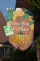 wrought iron sign domaine g humbrecht pfaffenheim alsace france