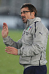 Alberico Evani, Italian Head coach in action during the Four Nations football match tournament Italy vs Germany at Rovereto, on November 14, 2013.  <br /> <br /> Pierre Teyssot