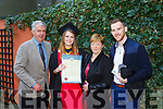 Bernard O'Leary, Health and Leisure Graduate Shauna O'Leary, Noelle O'Leary and Sean Keogh at the IT Tralee graduation ceremony at the Brandon hotel, Tralee on Thursday