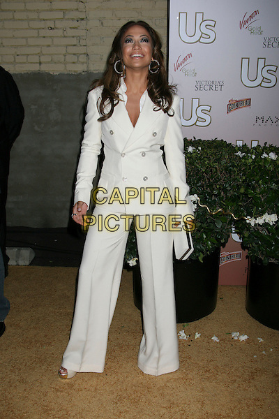 JENNIFER LOPEZ.US Weekly Presents Us' Hot Hollywood 2007 held at Sugar,  Hollywood, California, USA..April 26th, 2007.full length white jacket trousers wide leg flare suit clutch purse.CAP/ADM/RE.©Russ Elliot/AdMedia/Capital Pictures