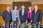 Presidential candidates David Norris, Richard Sweeney, Mary Davis and Sean Gallagher pictured with Mayor of Kerry Tim Buckley  who made their presidential bids to Kerry County Council on Monday.