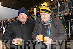 Gerdy O'Sullivan and Bernard McCarthy, Cahersiveen, pictured at the AIB Munster Club SFC final Dr. Crokes v The Nire, Waterford, held in Mallow on Sunday last.