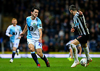Blackburn Rovers' Lewis Travis plays a ball past Newcastle United's Javi Manquillo<br /> <br /> Photographer Alex Dodd/CameraSport<br /> <br /> Emirates FA Cup Third Round Replay - Blackburn Rovers v Newcastle United - Tuesday 15th January 2019 - Ewood Park - Blackburn<br />  <br /> World Copyright © 2019 CameraSport. All rights reserved. 43 Linden Ave. Countesthorpe. Leicester. England. LE8 5PG - Tel: +44 (0) 116 277 4147 - admin@camerasport.com - www.camerasport.com