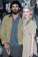 """LOS ANGELES - FEB 25:  Justin Melnick and wife at the """"Seal Team"""" Screening at the ArcLight Hollywood on February 25, 2020 in Los Angeles, CA"""