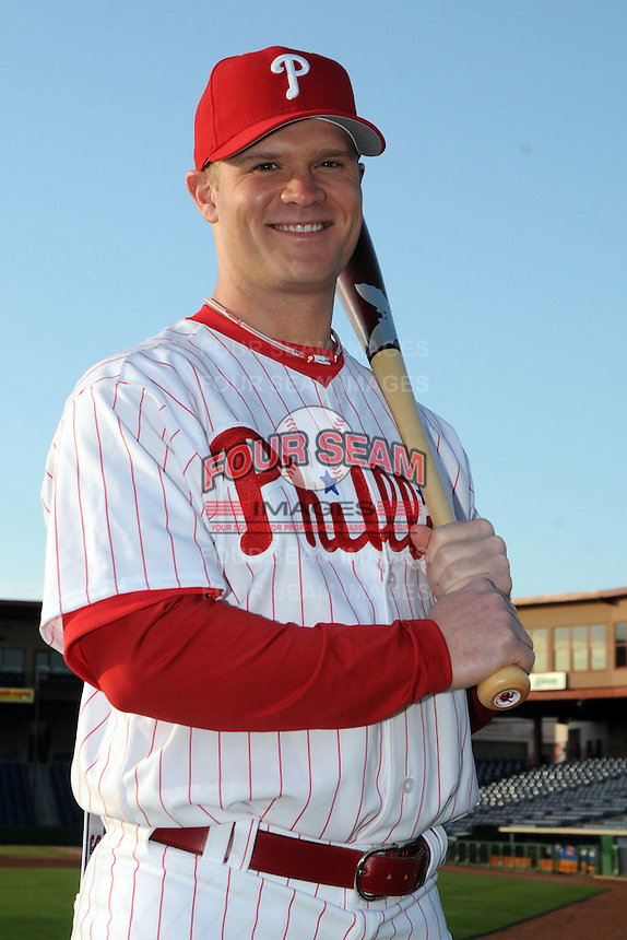 Feb 20, 2009; Clearwater, FL, USA; The Philadelphia Phillies outfielder Jeremy Slayden (81) during photoday at Bright House Field. Mandatory Credit: Tomasso De Rosa/ Four Seam Images