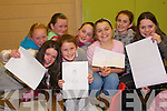 COMPETITION: Taking part in the Art and Model making competition in St Michael's College, Listowel on Friday night was l-r: Ciara Gallagher, Claudine Clement, Shauna Murphy, Shannon McCarthy, Toni McCarthy, Hazel Neill, Sinead O'Donnell and Fiona O'Donnell.   Copyright Kerry's Eye 2008