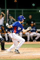 Drew Robinson - AZL Rangers - 2010 Arizona League - Opening night game between the Mariners and Rangers at Surprise Recreational Complex - 06/21/2010. Photo by:  Bill Mitchell/Four Seam Images..