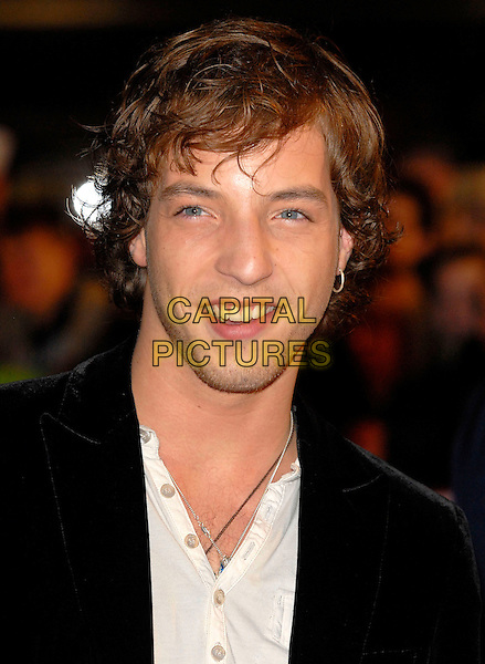 "JAMES MORRISON.Arriving at the 2007 ""Brit Awards"" at Earls Court, London, England, 14th February 2007..portrait headshot morrisson earring.CAP/FIN.©Steve Finn/Capital Pictures."