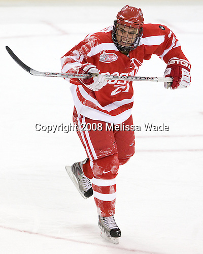 Jason Lawrence (Boston University - 21) - The Boston University Terriers defeated the Boston College Eagles 3-1 at Kelley Rink in Conte Forum in Chestnut Hill, Massachusetts.