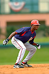 19 March 2006: Kenny Kelly, outfielder for the Washington Nationals, on the basepath during a Spring Training game against the Los Angeles Dodgers at Holeman Stadium, in Vero Beach, Florida. The Dodgers defeated the Nationals 9-1 in Grapefruit League play...Mandatory Photo Credit: Ed Wolfstein Photo..