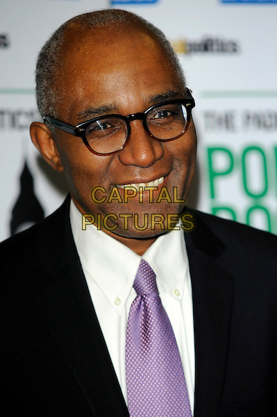 Trevor Phillips.The Paddy Power & Total Politics Political Book Awards 2013, BFI Imax,  London, England..February 6th, 2013.headshot portrait black suit white purple tie glasses .CAP/CJ.©Chris Joseph/Capital Pictures.