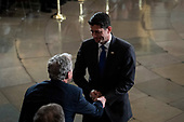 WASHINGTON, DC - DECEMBER 3 : Outgoing Speaker Paul D. Ryan greets former president George W. Bush during a ceremony for former president George H.W. Bush as he lies in State at the U.S. Capitol Rotunda on Capitol Hill on Monday, Dec. 03, 2018 in Washington, DC. (Photo by Jabin Botsford/Pool)