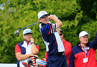 Brandt Snedeker US Team tees off the 10th tee during Thursday's Practice Day of the 41st RyderCup held at Hazeltine National Golf Club, Chaska, Minnesota, USA. 29th September 2016.<br /> Picture: Eoin Clarke | Golffile<br /> <br /> <br /> All photos usage must carry mandatory copyright credit (&copy; Golffile | Eoin Clarke)