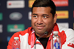 ENG - Newcastle upon Tyne, England, October 08: During the Media Conference at the Captains Run of Tonga on October 8, 2015 at St. James Park in Newcastle upon Tyne, England. (Photo by Dirk Markgraf / www.265-images.com) *** Local caption *** Siale Piutau of Tonga