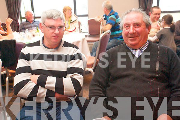 Listening to the Kilfenora Ceili band at the Kenmare Bay Hotel on Sunday which was one of the high-lights of Feile Neidin. .L-R  Gerry O'Sullivan and Joe O'Sullivan.