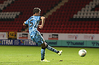 James Morton of Forest Green Rovers scores the fourth penalty for Rovers in the Shoot-out during Charlton Athletic vs Forest Green Rovers, Caraboa Cup Football at The Valley on 13th August 2019