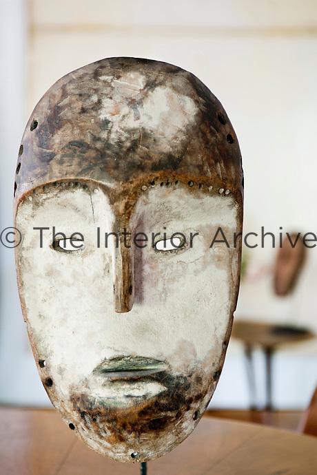 A Lega-Kete Congo mask with white pigment