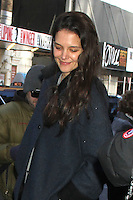 NEW YORK, NY - DECEMBER 19: Katie Holmes arriving to her Broadway play Dead Accounts in New York City. December 19, 2012. Credit: RW/MediaPunch Inc. /NortePhoto