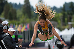 EUGENE, OR - JUNE 10: Jenna Pfeiffer of Baylor University competes in the long jump as part of the Heptathlon during the Division I Women's Outdoor Track & Field Championship held at Hayward Field on June 10, 2017 in Eugene, Oregon. (Photo by Jamie Schwaberow/NCAA Photos via Getty Images)