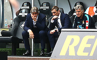 Manchester City manager Manuel Pellegrini shows a look of dejection during the Barclays Premier League match between Swansea City and Manchester City played at The Liberty Stadium, Swansea on 15th May 2016