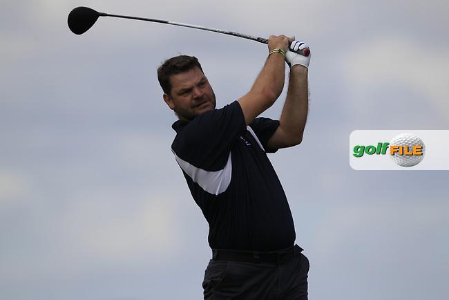 Mark Corrigan (Castlebar) during the final of the AIG Jimmy Bruen Shield Connacht Final, in Galway Bay Golf Club, Galway, Ireland. 12/08/2017<br /> Picture: Fran Caffrey / Golffile