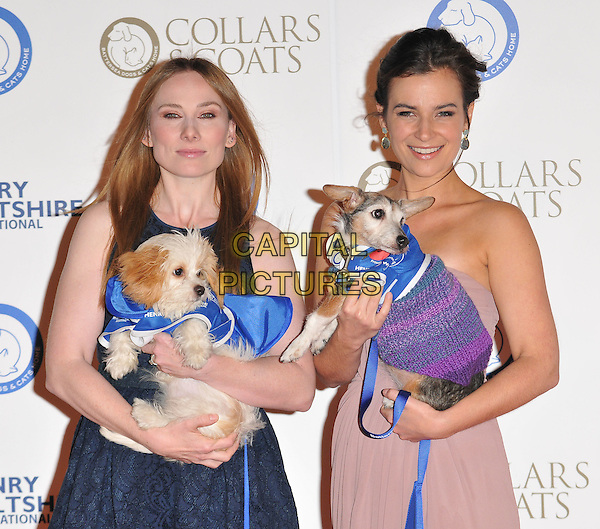 Rosie Marcel &amp; Camilla Arfwedson attend the Collars &amp; Coats Gala Ball 2015, Battersea Evolution, Battersea Park, London, England, UK, on Thursday 12 November 2015. <br /> CAP/CAN<br /> &copy;CAN/Capital Pictures