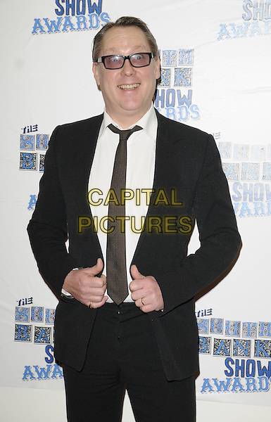 VIC REEVES.The South Bank Show Awards, Dorchester Hotel, London, England..January 26th, 2010.half length black blue black hands suit jacket white shirt funny face wide eyes .CAP/CAN.©Can Nguyen/Capital Pictures.