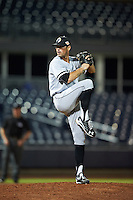 Glendale Desert Dogs pitcher Louie Lechich (60), of the Chicago White Sox organization, during a game against the Peoria Javelinas on October 18, 2016 at Peoria Stadium in Peoria, Arizona.  Peoria defeated Glendale 6-3.  (Mike Janes/Four Seam Images)