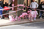 Pink everywhere in Ala dei Sardi during Stage 2 of the 100th edition of the Giro d'Italia 2017, running 221km from Olbia to Tortoli, Sardinia, Italy. 6th May 2017.<br /> Picture: Eoin Clarke | Cyclefile<br /> <br /> <br /> All photos usage must carry mandatory copyright credit (&copy; Cyclefile | Eoin Clarke)