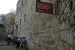 A verse from The New Testament written on a street sign at the Christian Quarter of Jerusalem's old city.