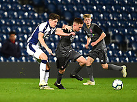 Lincoln City U18's Tobias Liversidge turns past West Bromwich Albion U18's Zak Delaney<br /> <br /> Photographer Andrew Vaughan/CameraSport<br /> <br /> FA Youth Cup Round Three - West Bromwich Albion U18 v Lincoln City U18 - Tuesday 11th December 2018 - The Hawthorns - West Bromwich<br />  <br /> World Copyright &copy; 2018 CameraSport. All rights reserved. 43 Linden Ave. Countesthorpe. Leicester. England. LE8 5PG - Tel: +44 (0) 116 277 4147 - admin@camerasport.com - www.camerasport.com