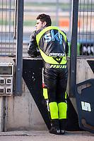 Romano Fenati in pit line at pre season winter test IRTA Moto3 & Moto2 at Ricardo Tormo circuit in Valencia (Spain), 11-12-13 February 2014