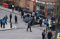 14 March 2020, London: Amazon series 'The Power' filming in Kings Cross. Naomi Alderman's 2016 novel The Power – which won the Baileys Women's Prize for Fiction in 2017 – is being adapted for TV by Amazon.  The series is set in a dystopian future where all teenage girls have developed the ability to electrocute people using just their hands.<br /> London, England on 14 March 2020<br /> CAP/IH<br /> ©Ivan Harris/Capital Pictures