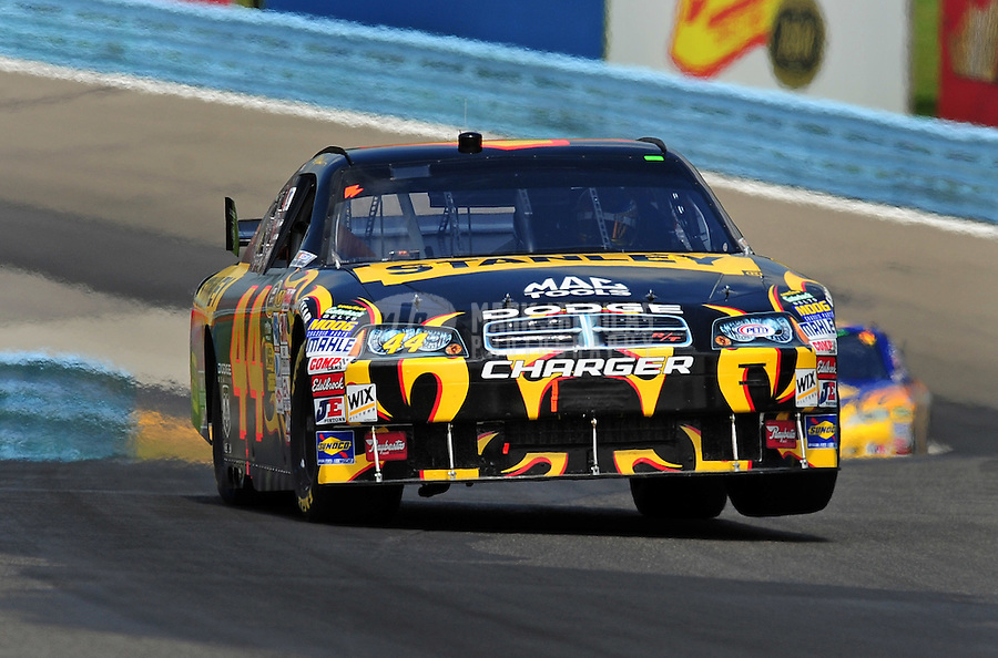 Aug. 10, 2009; Watkins Glen, NY, USA; NASCAR Sprint Cup Series driver A.J. Allmendinger during the Heluva Good at the Glen at Watkins Glen International. Mandatory Credit: Mark J. Rebilas-
