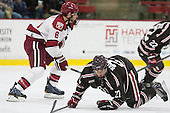 Kevin Guiltinan (Harvard - 6), Mark Naclerio (Brown - 27) - The visiting Brown University Bears defeated the Harvard University Crimson 2-0 on Saturday, February 22, 2014 at the Bright-Landry Hockey Center in Cambridge, Massachusetts.