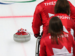 Pyeongchang, Korea, 15/3/2018- Mark Ideson, Ina Forrest, Dennis Thiessen, Marie Wright, compete in the  wheelchair curling during the 2018 Paralympic Games in PyeongChang.  Photo Scott Grant/Canadian Paralympic Committee.