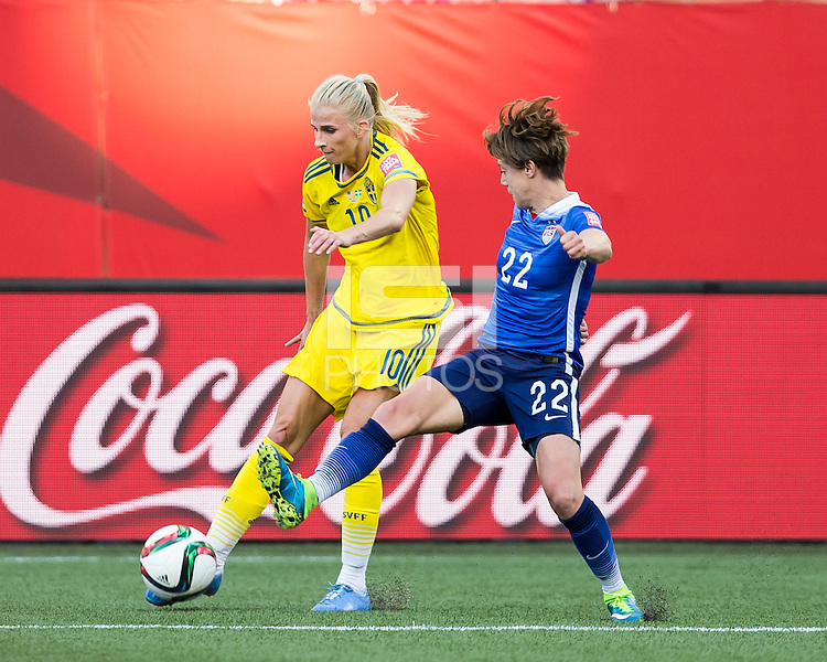 WINNIPEG, MANITOBA, CANADA - June 12, 2015: USA vs Sweden match at the Winnipeg Stadium.  Final score 0-0.