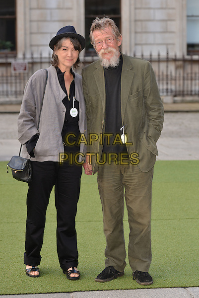 LONDON, ENGLAND - JUNE 04: Anwen Rees-Myers; John Hurt<br /> at the Royal Academy Summer Exhibition Preview Party at the Royal Academy of Arts on June 4, 2014 in London, England.<br /> CAP/PL<br /> &copy;Phil Loftus/Capital Pictures