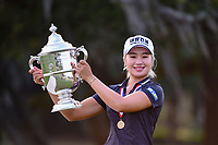 Jeongeun6 Lee (KOR) holds the trophy for winning the 2019 US Women's Open, Charleston Country Club, Charleston, South Carolina,  USA. 6/2/2019.<br /> Picture: Golffile | Ken Murray<br /> <br /> All photo usage must carry mandatory copyright credit (© Golffile | Ken Murray)