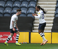Preston North End's Daniel Johnson celebrates scoring his sides first goal <br /> <br /> Photographer Mick Walker/CameraSport<br /> <br /> The EFL Sky Bet Championship - Preston North End v Bristol City - Saturday 2nd March 2019 - Deepdale Stadium - Preston<br /> <br /> World Copyright © 2019 CameraSport. All rights reserved. 43 Linden Ave. Countesthorpe. Leicester. England. LE8 5PG - Tel: +44 (0) 116 277 4147 - admin@camerasport.com - www.camerasport.com