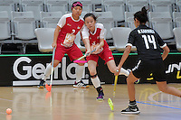 Singapore&rsquo;s Xuan Yeo in action during the World Floorball Championships 2017 Qualification for Asia Oceania Region - Singapore v Thailand at ASB Sports Centre , Wellington, New Zealand on Sunday 5 February 2017.<br /> Photo by Masanori Udagawa<br /> www.photowellington.photoshelter.com.