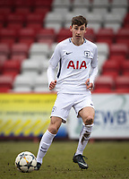 Jack Roles of Spurs U19 during the UEFA Youth League round of 16 match between Tottenham Hotspur U19 and Monaco at Lamex Stadium, Stevenage, England on 21 February 2018. Photo by Andy Rowland.
