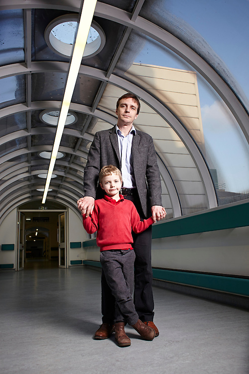 &copy; John Angerson<br /> 140311 - Cancer children Feature<br /> Henry Davison and father