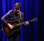 John Gallagher Jr. on stage during the Vineyard Theatre Gala 2018 honoring Michael Mayer at the Edison Ballroom on May 14, 2018 in New York City.
