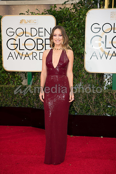Olivia Wilde arrives at the 73rd Annual Golden Globe Awards at the Beverly Hilton in Beverly Hills, CA on Sunday, January 10, 2016.Photo Credit: HFPA/AdMedia