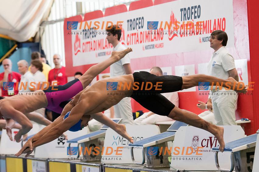 Filippo Magnini 100m Stile Libero <br /> Milano 10-03-2017 Piscina D. Samuele <br /> Nuoto 7mo Trofeo citta' di Milano <br /> foto Andrea Staccioli / Insidefoto
