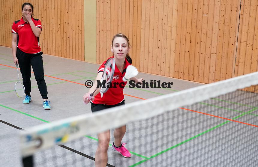 Annika Horbach (RW Walldorf) und Rimjhin Hossain (RW Walldorf) als Doppel der 1. Mannschaft - Mörfelden-Walldorf 09.02.2020: RW Walldorf Badminton