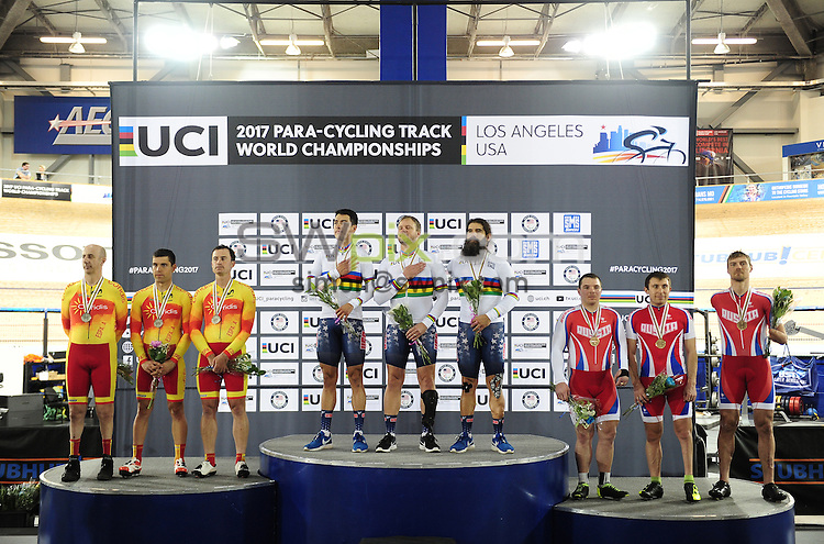 Picture by Simon Wilkinson/SWpix.com - 05/03/2017 - Cycling 2017 UCI Para-Cycling Track World Championships, Velosports Centre, Los Angeles USA -<br />